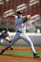 Mark Mangum of the Montreal Expos organization plays in a California Fall League game at The Epicenter circa October 1999 in Rancho Cucamonga, California. (Larry Goren/Four Seam Images)
