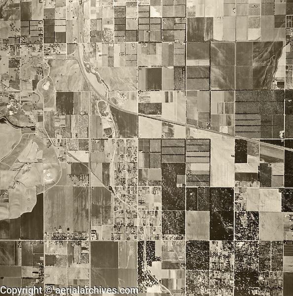 historical aerial photograph Chatsworth, California, 1947