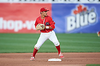 Williamsport Crosscutters second baseman Jake Scheiner (3) during a game against the Mahoning Valley Scrappers on July 8, 2017 at BB&T Ballpark at Historic Bowman Field in Williamsport, Pennsylvania.  Williamsport defeated Mahoning Valley 6-1.  (Mike Janes/Four Seam Images)