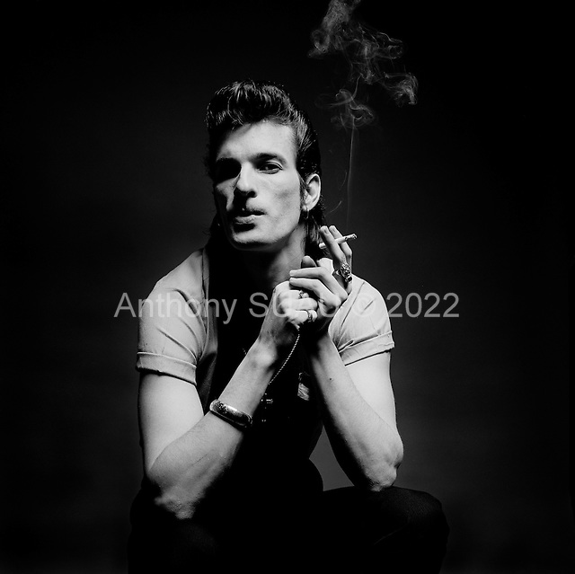 """Denver Colorado<br /> USA<br /> 1983<br /> <br /> Willy DeVille (August 25, 1950 - August 6, 2009) was an American singer and songwriter. First with his band Mink DeVille (1974-1986) and later on his own, DeVille in his 35-year career created songs that are wholly original yet rooted in traditional American musical styles. <br /> <br /> DeVille worked with collaborators from across the spectrum of contemporary music, including Jack Nitzsche, Doc Pomus, Dr. John, Mark Knopfler, Allen Toussaint, and Eddie Bo. The typical DeVille song--if any of his songs can be called """"typical""""--is filled with romantic conviction and yearning. Latin rhythms, blues riffs, doo-wop, Cajun music, strains of French cabaret, and echoes of early-1960s uptown soul can be heard in DeVille's work.<br /> <br /> Mink DeVille was a house band at CBGB, the historic New York City nightclub where punk rock was born in the mid-1970s."""