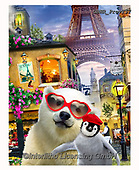 Howard, REALISTIC ANIMALS, REALISTISCHE TIERE, ANIMALES REALISTICOS, selfies,ice bear, penguin,paris,eiffel tower, paintings+++++,GBHRPROV257,#a#, EVERYDAY