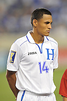 Andy Najar (14) of Honduras.  Honduras defeated Haiti 2-0 in the first round of the CONCACAF Gold Cup, at Red Bull Arena, Monday July 8 , 2013.