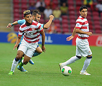 USA U20's DeAndre Yedlin (L) during their FIFA U-20 World Cup Turkey 2013 Group Stage Group A soccer match USA U20 betwen Spain at the Kadir Has stadium in Kayseri on June 21, 2013. Photo by Aykut Akici/isiphotos.com