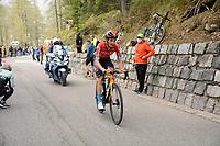 29th May 2021;  Giro D italia stage 20 Valle Spluga to Alpe Motta; Bahrain - Victorious Bilbao, Peio arrives in Alpe Motta