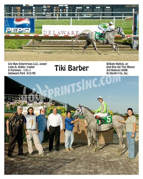 Tiki Barber winning at Delaware Park on 9/2/09