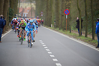 peloton over the Tiegemberg<br /> <br /> 71st Nokere Koerse