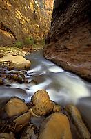 Zion Canyon Narrows, Zion National Park, Utah.