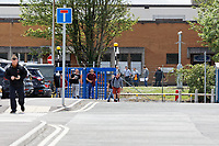 Pictured: Workers leave the Ford engine plant in Bridgend, Wales, UK. Thursday 06 June 2019<br /> Re: An announcement on the proposed closure of Ford's Bridgend plant will be made today (Thursday).<br /> Ford Europe and bosses from the United States will meet union leaders at its Essex headquarters.<br /> The plant employs 1,700 workers from across south Wales.