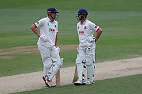 Alastair Cook (L) and Ryan ten Doeschate of Essex during Essex CCC vs Kent CCC, Specsavers County Championship Division 1 Cricket at The Cloudfm County Ground on 29th May 2019