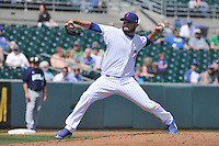 The Iowa Cubs starting pitcher Tyler Ihrig (24) throws during the game against the New Orleans Zephyrs at Principal Park on April 14, 2016 in Des Moines, Iowa.  The Cubs won 4-2 .  (Dennis Hubbard/Four Seam Images)