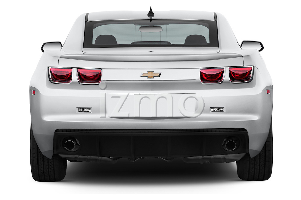 Straight rear view of a 2013 Chevrolet Camaro Coupe 1LS