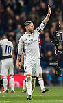 Sergio Ramos of Real Madrid celebrates as the La Liga match between Real Madrid and RC Deportivo La Coruna ends at the Santiago Bernabeu Stadium on 10 December 2016 in Madrid, Spain. Photo by Diego Gonzalez Souto / Power Sport Images