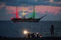 12.08.2020 - The Amerigo Vespucci Sails In Calabria