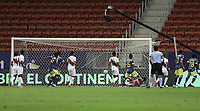 9th July 2021, Brasilia, Federal District, Brazil:  the goal scored by Juan Cuadrado of Colombia, during the match between Colombia and Peru for 3rd place in Copa America 2021, held at Mane Garrincha stadium, in Brasilia, Federal District