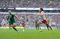 Ollie Lindsay-Hague of Harlequins runs in a try during the Premiership Rugby Round 1 match between London Irish and Harlequins at Twickenham Stadium on Saturday 6th September 2014 (Photo by Rob Munro)
