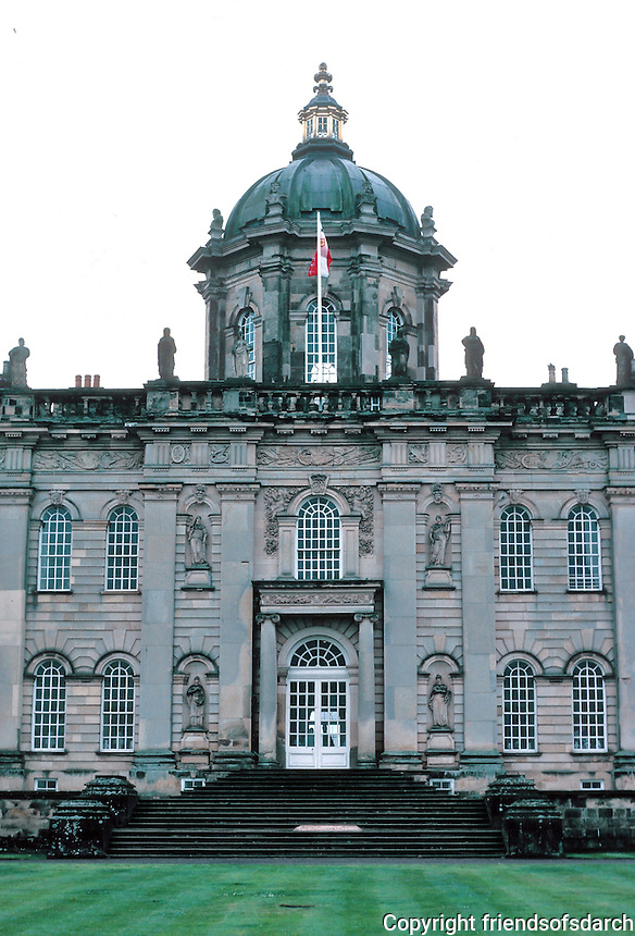 Sir John Vanbrugh: Howard Castle, North Yorkshire. Facade. South front. Photo '90.