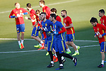 Spain's David De Gea (l) and Sergio Rico during training session. March 20,2017.(ALTERPHOTOS/Acero)