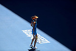 Ana Ivanovic (SRB) loses to Eugenie Bouchard (CAN) 5-7, 7-5, 6-2 at the Australian Open in Melbourne, Australia on January 21 2014