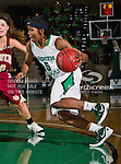 North Texas Mean Green guard Brittney Hudson (5) in action during the game between the Denver Pioneer Women and the University of North Texas Mean Green at the North Texas Coliseum,the Super Pit, in Denton, Texas. Denver defeats UNT 50 to 44...