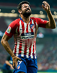 Diego Costa of Atletico de Madrid reacts in pain during their International Champions Cup Europe 2018 match between Atletico de Madrid and FC Internazionale at Wanda Metropolitano on 11 August 2018, in Madrid, Spain. Photo by Diego Souto / Power Sport Images
