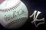 Babe Ruth Autographed Baseball, Baseball Hall of Fame, Cooperstown, New York