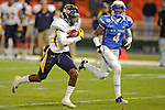 Washington- December 28: Wide receiver Bernard Reedy #11 of the Toledo Rockets races for a touchdown in the Military Bowl vs the  Air Force Falcons at RFK Stadium on December 11, 2011 in Washington, DC.  (Ryan Lasek / Eclipse Sportswire)