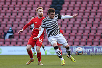 Nicky Cadden of Forest Green Rovers and James Brophy of Leyton Orient during Leyton Orient vs Forest Green Rovers, Sky Bet EFL League 2 Football at The Breyer Group Stadium on 23rd January 2021