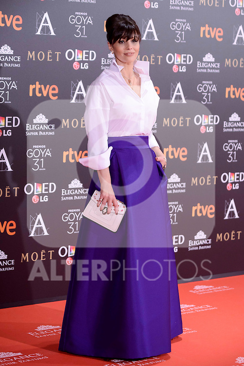 Ana Alvarez attends to the Red Carpet of the Goya Awards 2017 at Madrid Marriott Auditorium Hotel in Madrid, Spain. February 04, 2017. (ALTERPHOTOS/BorjaB.Hojas)