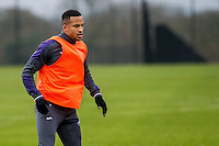 Tuesday 17 January 2017<br /> Pictured: Matrin Olsson of Swansea City in action during training<br /> Re:Swansea City training session at the Fairwood Training ground, Fairwood, Swansea, Wales, UK