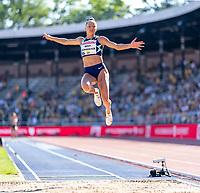 4th July 2021; Stockholm Olympic Stadium, Stockholm, Sweden; Diamond League Grand Prix Athletics, Bauhaus Gala; Bekh Romanchuk competes in the womens long jump