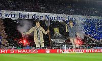 18.04.2018, Football DFB Pokal 2017/2018, semi final , FC Schalke 04 - Eintracht Frankfurt, in Veltins Arena auf Schalke. Choreografie Schalker Fans *** Local Caption *** © pixathlon<br /> <br /> Contact: +49-40-22 63 02 60 , info@pixathlon.de