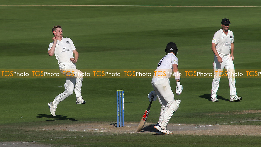 Middlesex bowler, Blake Cullen in action during Sussex CCC vs Middlesex CCC, LV Insurance County Championship Division 3 Cricket at The 1st Central County Ground on 7th September 2021