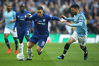 Eden Hazard of Chelsea and David Silva of Manchester City in action during the Carabao Cup Final match between Chelsea and Manchester City at Stamford Bridge on February 24th 2019 in London, England. (Photo by Paul Chesterton/phcimages.com)<br /> Foto PHC Images / Insidefoto <br /> ITALY ONLY