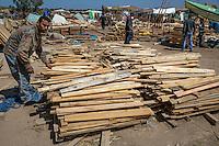 Morocco.  Lumber for Sale.  Had Draa Market, Essaouira Province.