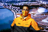 23rd September 2021; Sochi, Russia;   F1 Grand Prix of Russia 3 Daniel Ricciardo AUS, McLaren F1 Team, F1 Grand Prix of Russia at Sochi Autodrom   driver press conference