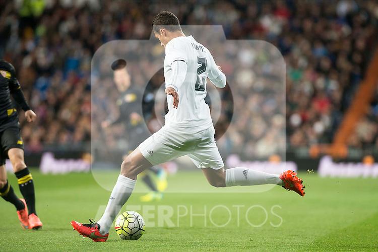 Real Madrid's Raphael Varane during La Liga match. March 20,2016. (ALTERPHOTOS/Borja B.Hojas)