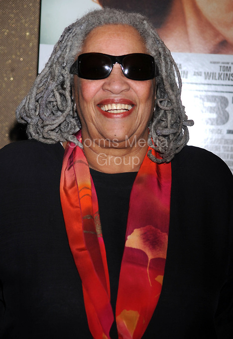 NEW YORK, NY - AUGUST 22: Toni Morrison attends 'The Debt' screening at the Tribeca Grand Hotel - Screening Room on August 22, 2011 in New York City.. <br />  <br /> People:   Toni Morrison