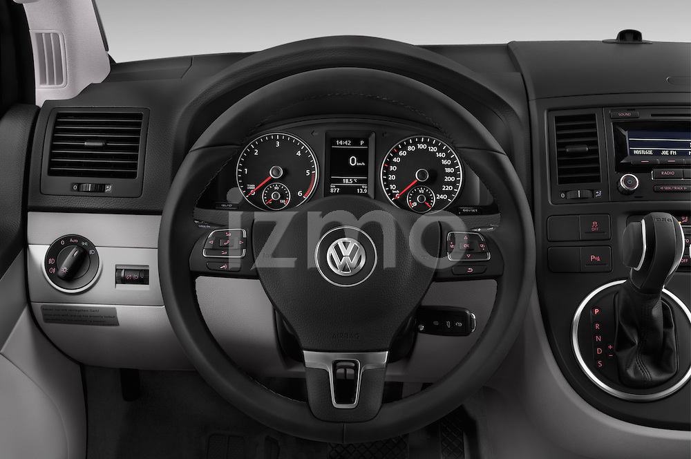 Car pictures of steering wheel view of a 2014 Volkswagen CALIFORNIA COMFORTLINE EDITION BLUEMOTION 4 Door Minivan Steering Wheel