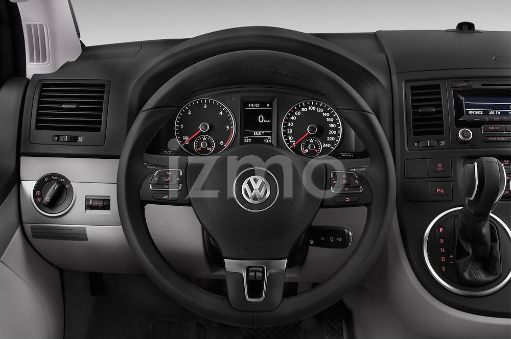 Car pictures of steering wheel view of a 2014 Volkswagen CALIFORNIA COMFORTLINE EDITION BLUEMOTION 4 Door Minivan Steering Wheel