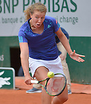 Anna-Lena Friedsam (GER) loses to Serena Williams (USA)5-7. 6-3, 6-3 at  Roland Garros being played at Stade Roland Garros in Paris, France on May 28, 2015