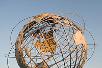 THIS IMAGE IS AVAILABLE EXCLUSIVELY FROM GETTY IMAGES<br /> <br /> Please search for image # sb10062249c-001 on www.gettyimages.com<br /> <br /> The Unisphere, Steel Globe Built for the 1964-65 World's Fair, Flushing Meadow Corona Park, Queens, New York City, New York State, USA