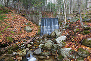 An old dam in the southern section of Franconia Notch in Lincoln, New Hampshire. This old dam is possibly linked to the old Flume Reservation that was in the area.