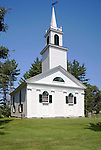 Old church in Alna, Knox County, Maine, USA