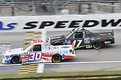 #30: Danny Bohn, On Point Motorsports, Toyota Tundra North American Motor Car/Blue Buffalo #17: Hailie Deegan, DGR-Crosley, Ford F-150 Ford