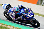 WorldSBK supported test SSP600 day 2 at Circuit de Barcelona-Catalunya, picture show J. Cluzel (FRA) riding Yamaha YZF R6 from GMT94 Yamaha