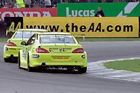 Dan Eaves and Matt Neal. Team Peugeot Sport UK. British Touring Car Championship.