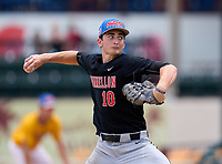 Dunnellon Tigers pitcher Drew Leinenbach (10) during the 42nd Annual FACA All-Star Baseball Classic on June 6, 2021 at Joker Marchant Stadium in Lakeland, Florida.  (Mike Janes/Four Seam Images)