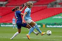 29th August 2020; Wembley Stadium, London, England; Community Shield Womens Final, Chelsea versus Manchester City; Guro Reiten of Chelsea Women challenges Janine Beckie of Manchester City Women