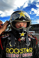 Oct. 31, 2008; Las Vegas, NV, USA: NHRA funny car driver Jerry Toliver during qualifying for the Las Vegas Nationals at The Strip in Las Vegas. Mandatory Credit: Mark J. Rebilas-