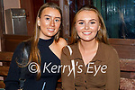 Enjoying the evening in Christy's Bar on Thursday in Listowel, l to r: Ciara O'Regan (Irremore)and Lauren Breen (Finuge).